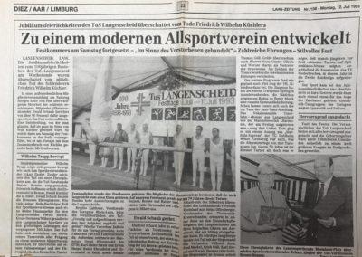 1993 Artikel 100 Jahre TuS Langenscheid