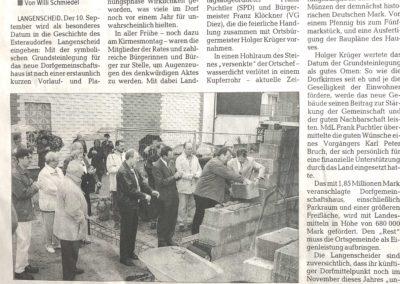 2001 Artikel Grundsteinlegung DGH