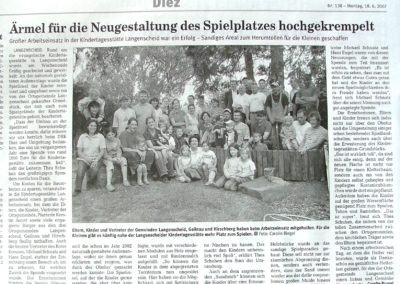 2007 Artikel Umgestaltung Kindergarten