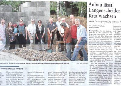2011_05 Zeitungsartikel Kindergartenanbau