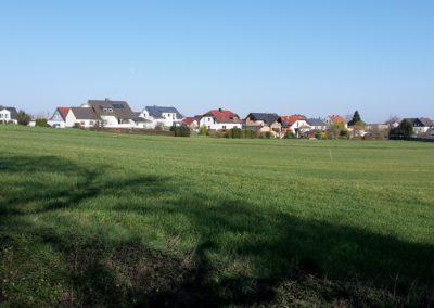 Blick von der Heck zum Dorf